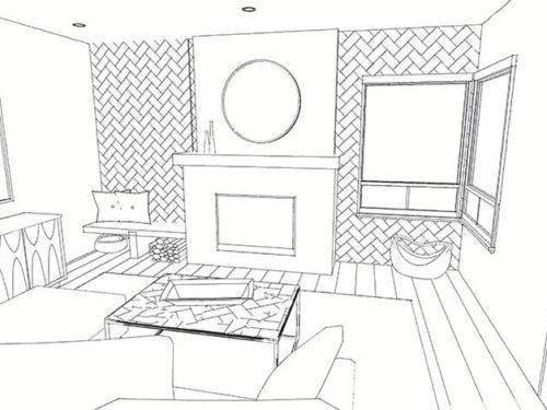 KH Customs – Living Room Render