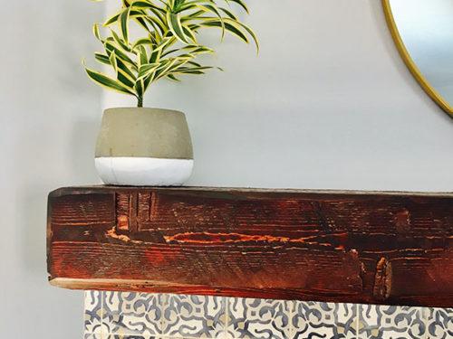 KH Customs – Custom Carpentry, Rustic Mantle Detail